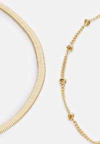 Orelia - SATELLITE & SNAKE CHAIN ANKLET 2 PACK - Bracelet - pale gold-coloured - 2