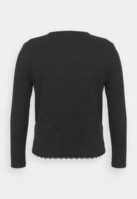Glamorous Curve - ROUND NECKLINE AND LONG SLEEVES - Top sdlouhým rukávem - black - 6