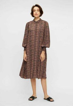 Shirt dress - mocha mousse