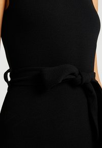 Missguided - HIGH NECK TIE WAIST MINI DRESS - Shift dress - black - 6