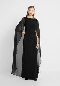 Lauren Ralph Lauren - CLASSIC LONG GOWN COMBO - Suknia balowa - black - 0