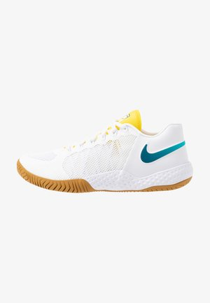 COURT FLARE  - Clay court tennis shoes - white/valerian blue/oracle aqua