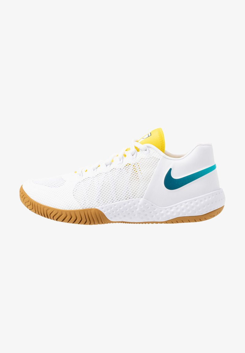 Nike Performance - COURT FLARE  - Clay court tennis shoes - white/valerian blue/oracle aqua