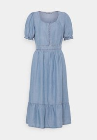 Cream - AMIRA FLOUNCE DRESS - Robe longue - blue - 0