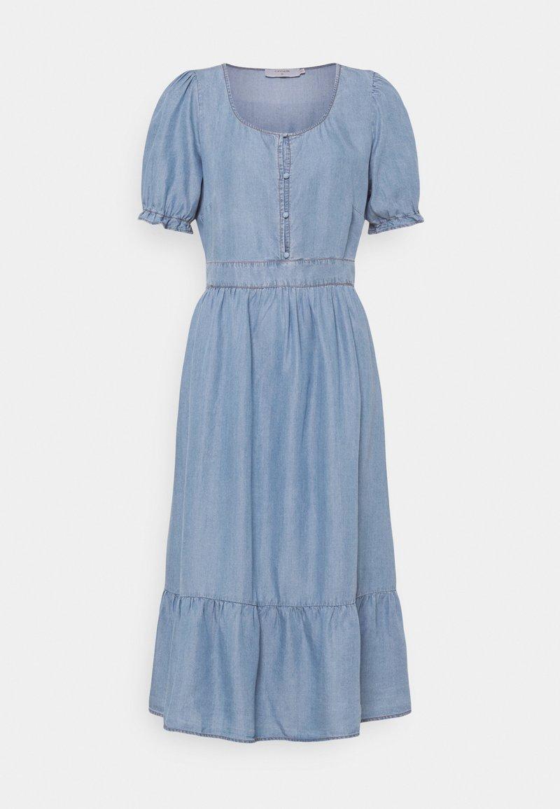 Cream - AMIRA FLOUNCE DRESS - Robe longue - blue