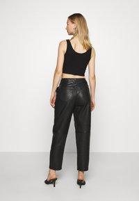 Topshop - ELLA  - Leather trousers - black - 2