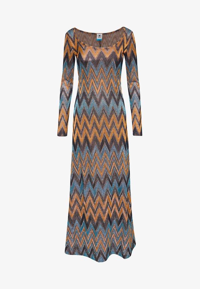 LONG DRESS - Maxi dress - blue/copper/black