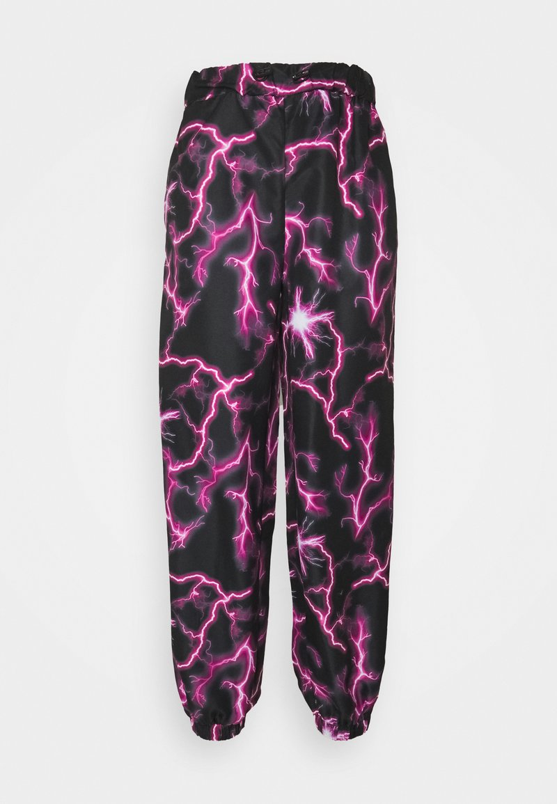 Missguided - LIGHTENING JOGGER - Joggebukse - black