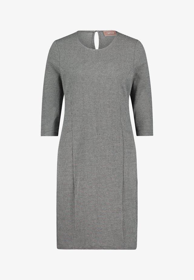 Etui-jurk - zwart/grijs