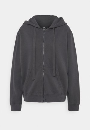BASIC HOODIE WOMAN - Zip-up hoodie - asphalt