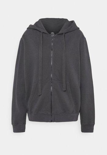 BASIC HOODIE WOMAN - Sweater met rits - asphalt