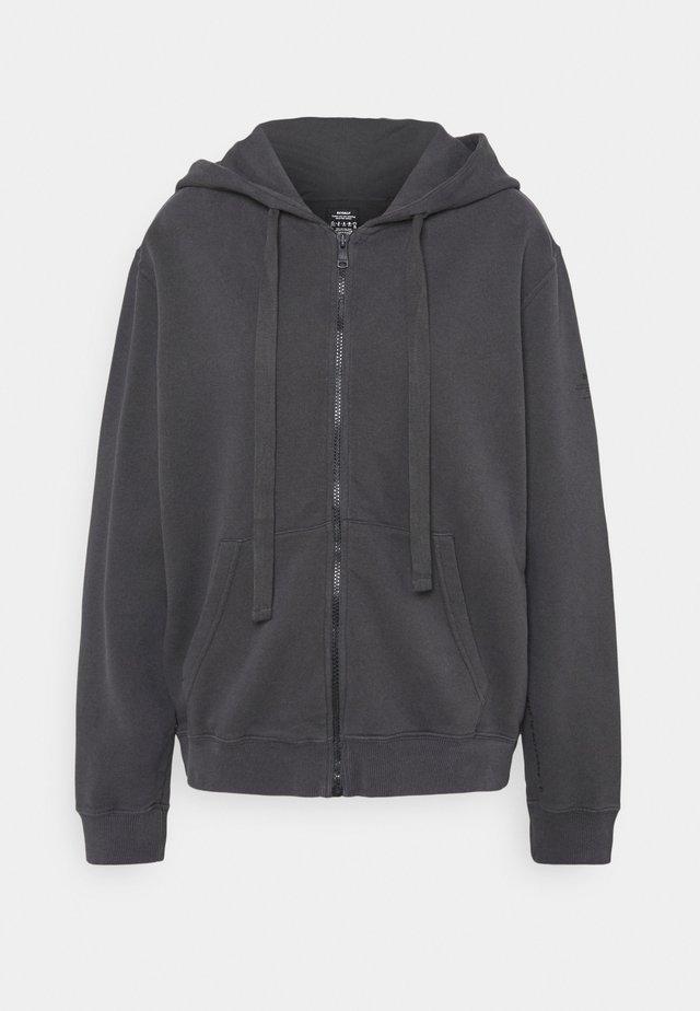 BASIC HOODIE WOMAN - veste en sweat zippée - asphalt