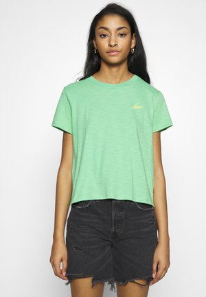 GRAPHIC SURF TEE - T-shirt z nadrukiem - absinthe green