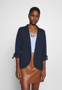 TOM TAILOR DENIM - WITH TURN UP - Blazer - real navy blue - 0