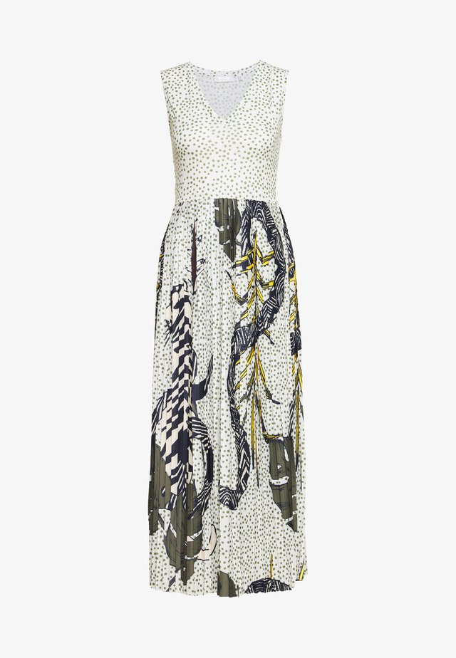 DRESS WITH V NECK - Vestito di maglina - pearl white