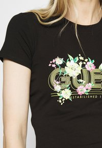 Guess - JANEL TEE - T-shirt con stampa - jet black - 5