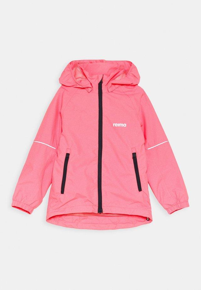 FISKARE JACKET - Regenjas - neon pink