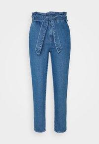 ONLY - ONLJANPAPERBAG BELT - Jeans slim fit - dark blue denim - 4
