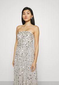 Maya Deluxe - ALL OVER EMBELLISHED BANDEAU MAXI - Occasion wear - soft grey - 3