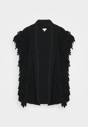 SHAGGY GILLET - Cardigan - black