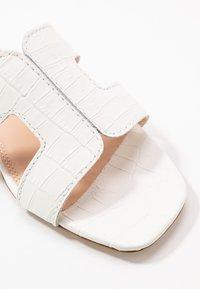 Dune London - LOUPE - Pantolette flach - white - 2