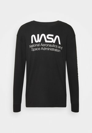 TBAR COLLABORATION TEE - Long sleeved top - black/nasa - space administration