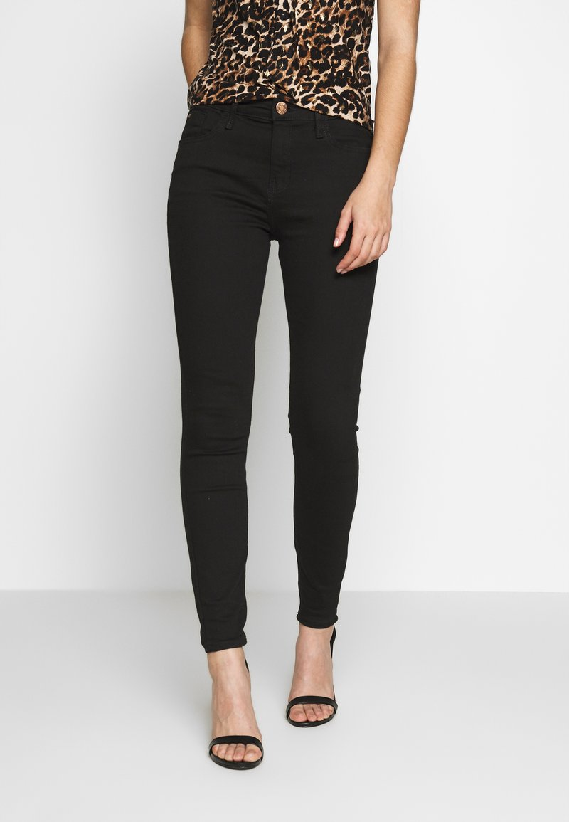 River Island - Jeansy Skinny Fit - coal