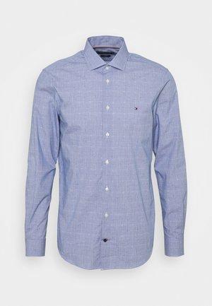 DOBBY GLEN CHECK SLIM FIT - Shirt - navy/white