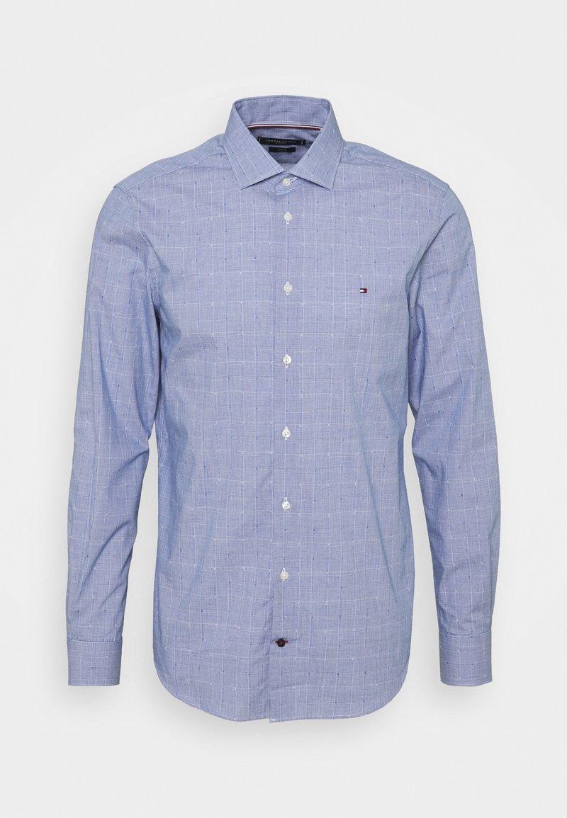 Tommy Hilfiger Tailored - DOBBY GLEN CHECK SLIM FIT - Shirt - navy/white