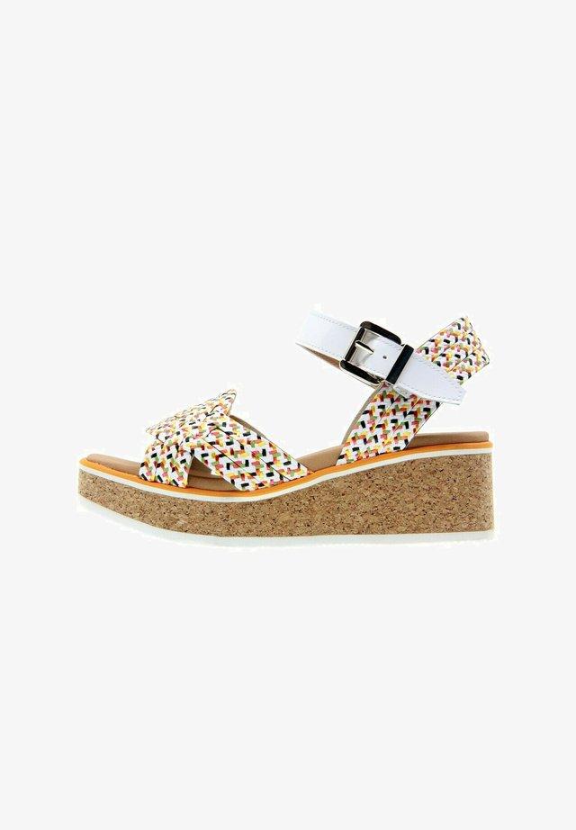 SUNCOAST TRENZADO - Platform sandals - multicolor 1