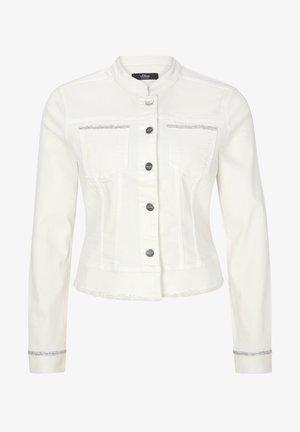 À BORD DÉCORATIF - Denim jacket - fresh white denim