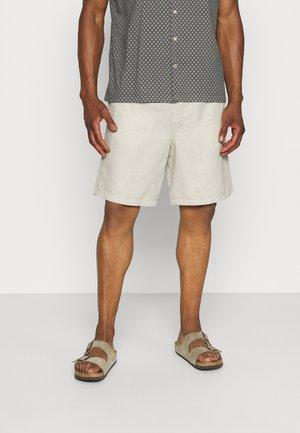 LINEN SHORTS - Shorts - beige