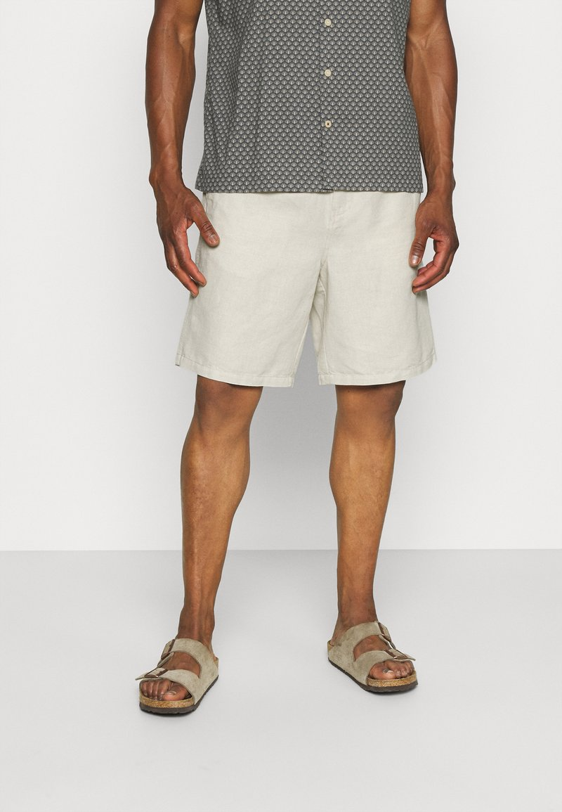ARKET - LINEN SHORTS - Shorts - beige