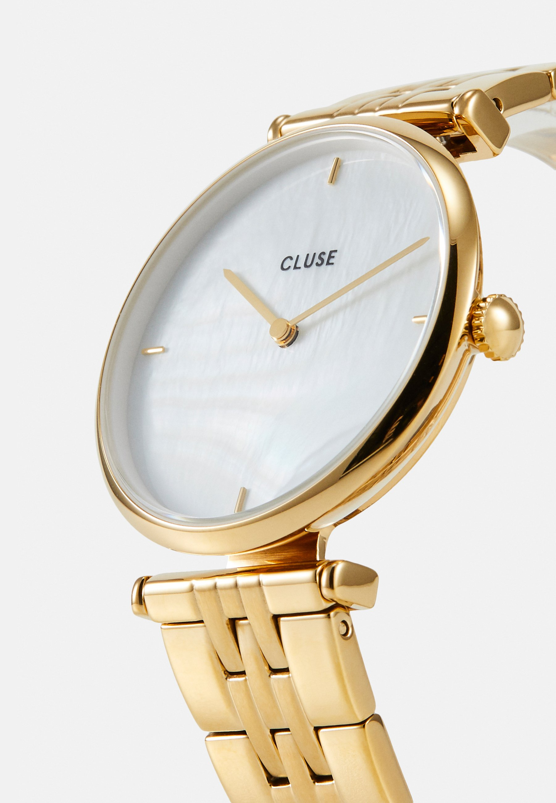 Cluse TRIOMPHE - Klokke - gold-coloured/white/gull HBE4t95NU3e75An