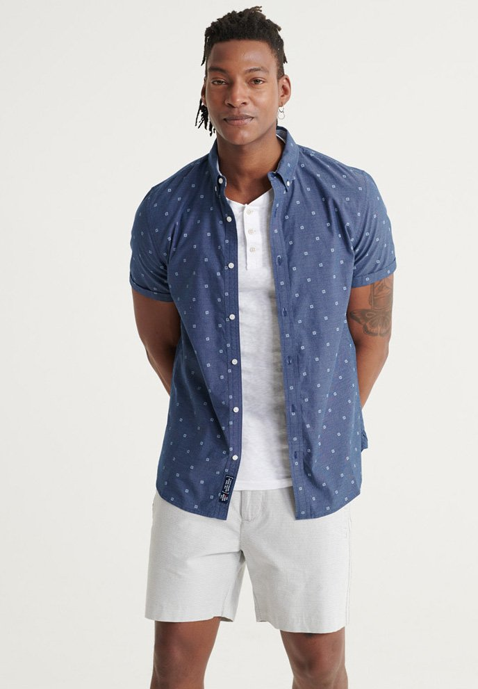 Homme SUPERDRY CLASSIC SHOREDITCH PRINT SHORT SLEEVED SHIRT - Chemise