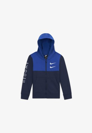 Zip-up hoodie - midnight navy/game royal/white