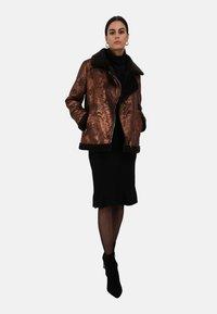 Oakwood - Faux leather jacket - chestnut - 1