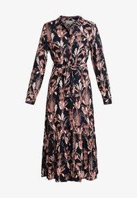 Kaffe - KASTELLA SHIRT DRESS - Maxi dress - black deep - 6