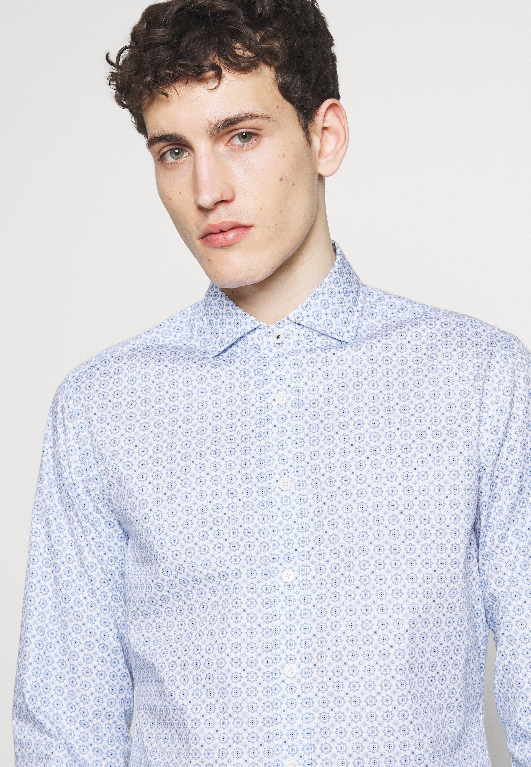 Hackett London MOSAIC TILE - Chemise - white/blue
