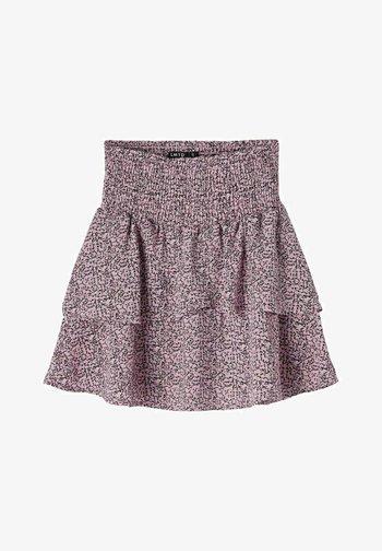 Pleated skirt - lilac chiffon
