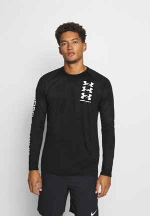 TECH TRIPLE LOGO - Camiseta de deporte - black