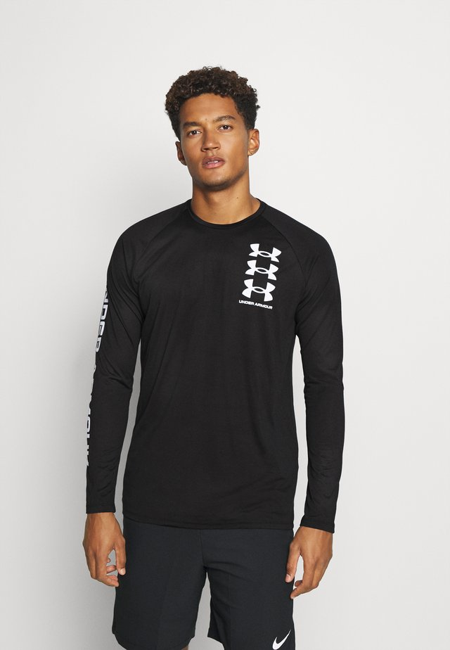 TECH TRIPLE LOGO - T-shirt de sport - black