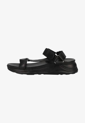Sandalen met sleehak - black / sole black