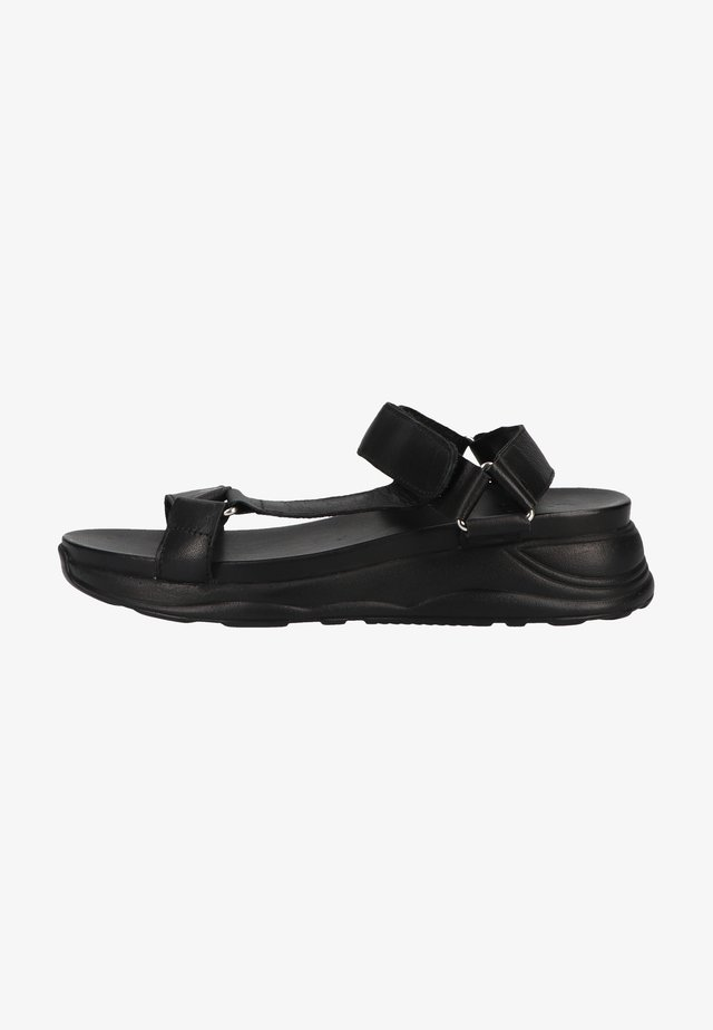 Sandales compensées - black / sole black