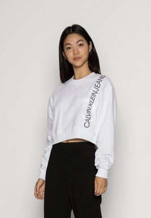 VERTICAL MONOGRAM CREW NECK - Sweatshirt - bright white