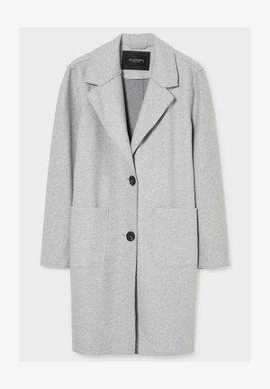 Klasyczny płaszcz - light gray melange
