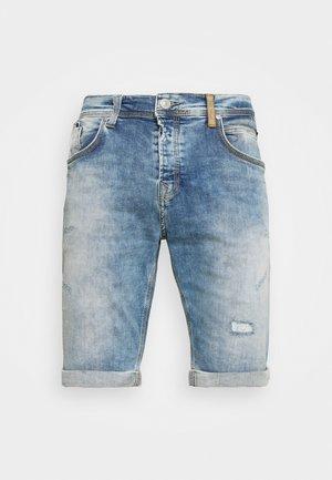 CORVIN - Denim shorts - storm blue wash