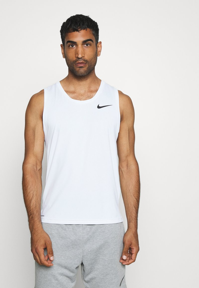 Nike Performance - TANK DRY - Sports shirt - white/black