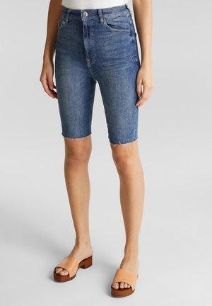 MIT HOHEM BUND - Jeansshort - blue medium washed