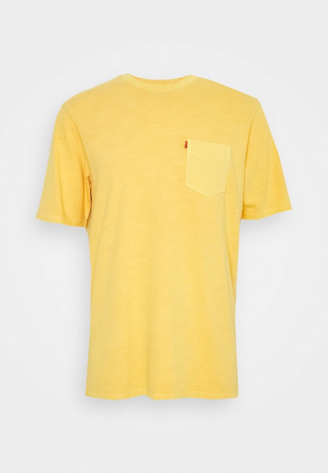 RELAXED FIT POCKET TEE - Basic T-shirt - yellows/oranges